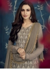 Embroidered Work Faux Georgette Palazzo Style Pakistani Salwar Kameez - 2
