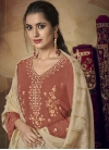 Embroidered Work Viscose Palazzo Straight Salwar Suit - 1