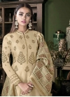 Tussar Silk Palazzo Style Pakistani Salwar Kameez - 1