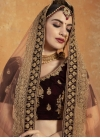 Velvet A Line Lehenga Choli - 1