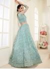 Net A Line Lehenga Choli For Bridal - 1