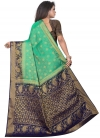 Woven Work Jacquard Silk Trendy Classic Saree - 2