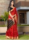 Black and Red Traditional Designer Saree - 1