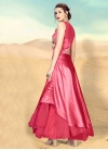 Net Cord Work Readymade Layered Gown - 1