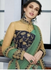 Silk Navy Blue and Sea Green Readymade Designer Gown For Festival - 1