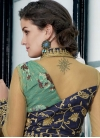Silk Navy Blue and Sea Green Readymade Designer Gown For Festival - 2