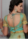 Silk Sea Green and Turquoise Readymade Long Length Gown For Festival - 2