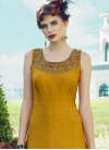 Banglori Silk Embroidered Work Floor Length Trendy Gown - 1
