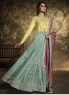 Art Silk Embroidered Work Long Length Designer Anarkali Suit - 1