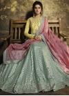 Art Silk Embroidered Work Long Length Designer Anarkali Suit - 2