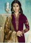 Satin Georgette Pant Style Pakistani Salwar Suit - 1