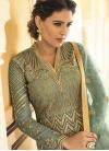 Embroidered Work Long Length Designer Anarkali Suit - 2