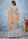 Embroidered Work Banarasi Silk Palazzo Style Pakistani Salwar Kameez - 2