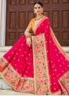 Silk Orange and Rose Pink Trendy Classic Saree - 1