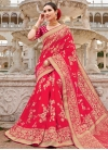 Thread Work Silk Traditional Designer Saree - 1