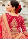 Thread Work Silk Traditional Designer Saree - 2