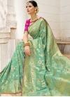 Silk Beads Work Contemporary Style Saree - 1