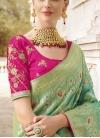 Silk Beads Work Contemporary Style Saree - 2