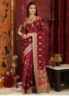 Booti Work Traditional Designer Saree - 1
