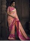 Rose Pink and Salmon Beads Work Traditional Designer Saree - 1