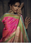 Embroidered Work Pink and Rose Pink Designer Traditional Saree - 1