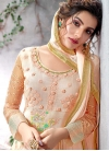 Faux Georgette Beads Work Long Length Pakistani Salwar Suit - 1