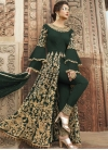 Net Embroidered Work Pant Style Designer Suit - 1