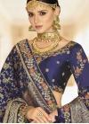 Banarasi Silk Embroidered Work A - Line Lehenga - 1