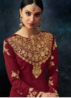 Embroidered Work Pure Georgette Anarkali Salwar Kameez - 2