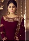 Shamita Shetty Faux Georgette Embroidered Work Trendy Anarkali Salwar Kameez - 1