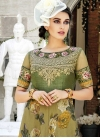 Digital Print Work Readymade Designer Gown - 1