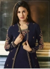 Embroidered Work Jacket Style Long Length Suit - 1