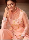 Embroidered Work Palazzo Style Pakistani Salwar Kameez - 1