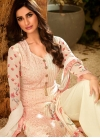 Embroidered Work Faux Georgette Palazzo Style Pakistani Salwar Suit - 2