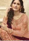 Embroidered Work Palazzo Style Pakistani Salwar Suit - 1