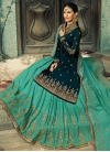 Faux Georgette Embroidered Work Kameez Style Lehenga - 2