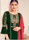 Faux Georgette Palazzo Style Pakistani Salwar Kameez For Ceremonial - 2