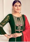 Faux Georgette Palazzo Style Pakistani Salwar Kameez For Ceremonial - 1