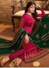 Satin Georgette Pakistani Straight Salwar Kameez - 2