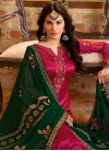 Satin Georgette Pakistani Straight Salwar Kameez - 1