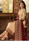 Embroidered Work Satin Georgette Pakistani Straight Salwar Suit - 1