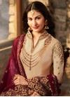Embroidered Work Satin Georgette Pakistani Straight Salwar Suit - 2