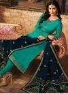 Embroidered Work Satin Georgette Pakistani Straight Salwar Kameez - 2