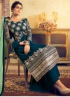 Viscose Palazzo Style Pakistani Salwar Kameez - 1