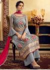 Viscose Embroidered Work Palazzo Style Pakistani Salwar Suit - 2
