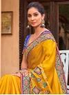 Satin Silk Embroidered Work Designer Traditional Saree - 1