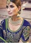 Beads Work Banarasi Silk Trendy Saree - 1