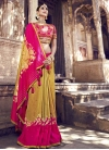 Gold and Rose Pink Designer Contemporary Saree For Bridal - 2