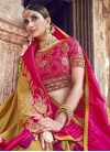 Gold and Rose Pink Designer Contemporary Saree For Bridal - 1