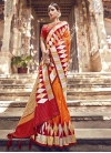 Beads Work Designer Traditional Saree For Festival - 2